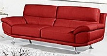 Stylish red leather sofa