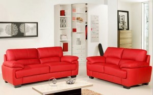 Red Leather Sofas Chelsea
