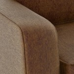 Gloucester brown fabric sofa bed armrest