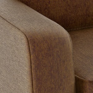 Gloucester brown fabric sofa bed armrest