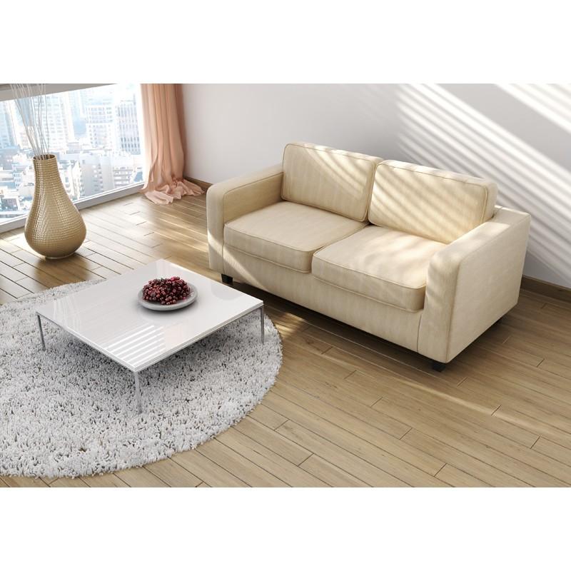 Gloucester Cream Fabric 2 Seater Sofa Bed Stylish
