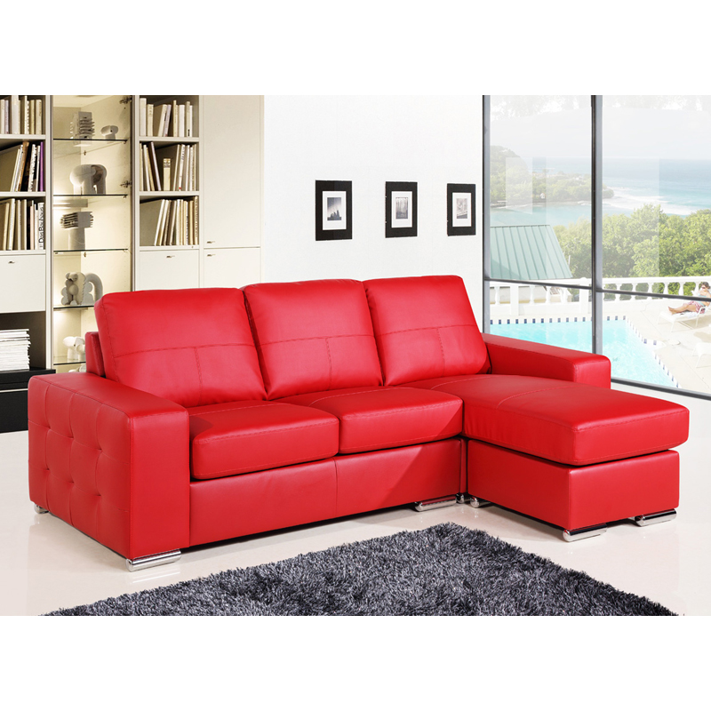 Cheap Red Leather Corner Sofas   Baci Living Room