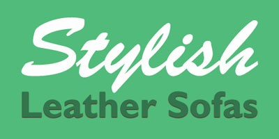 stylish leather sofas logo