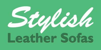stylish leather sofas logo